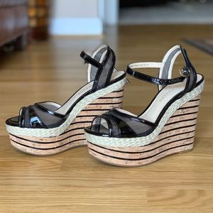 ENZO ANGIOLINI summer wedge open toed shoe.